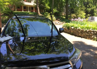 2016 Toyota Highlander Windshield Chip Repair fixed on-site by Platinum Auto Glass New Jersey
