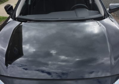 2017 Honda Civic 4dr windshield cut out by Platinum Auto Glass Repair New Jersey @ platinumautoglassnj.com