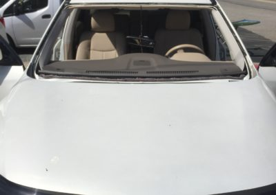 2017 Nissan Rogue Truck SUV windshield cut out in New Jersey by Platinum auto glass repair quotes New Jersey @platinumautoglassnj.com