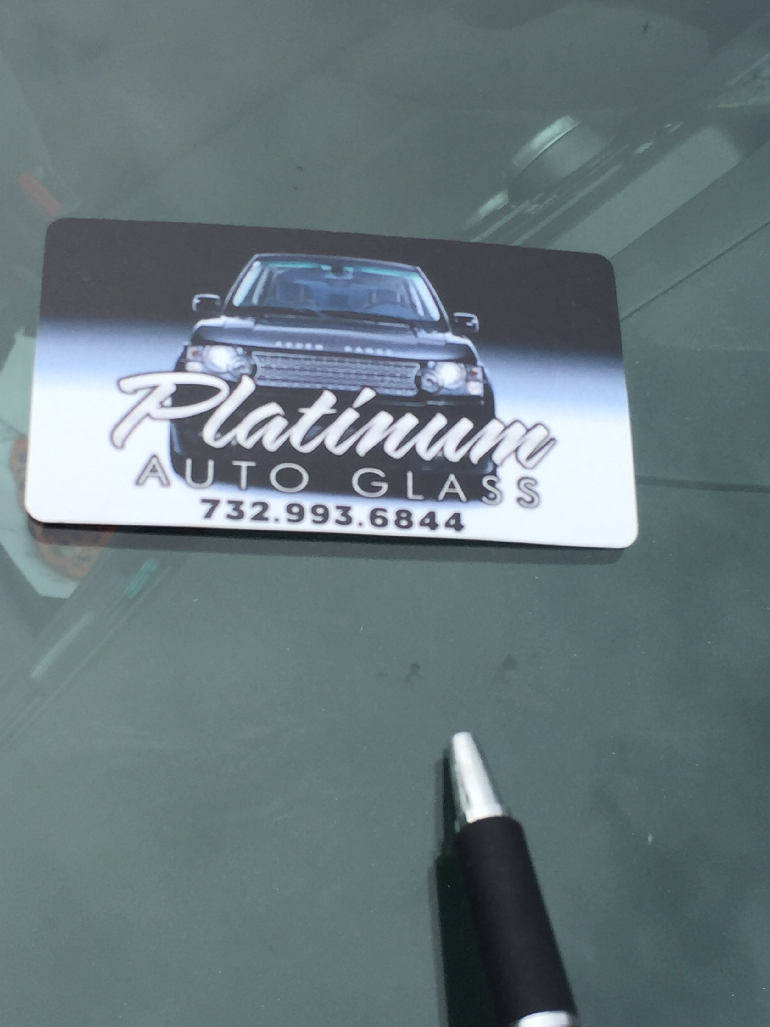 Automobile Windshield Stone Chip Repair done same day in New Jersey area by Platinum Auto Glass Repair New Jersey @platinumautoglassnj.com