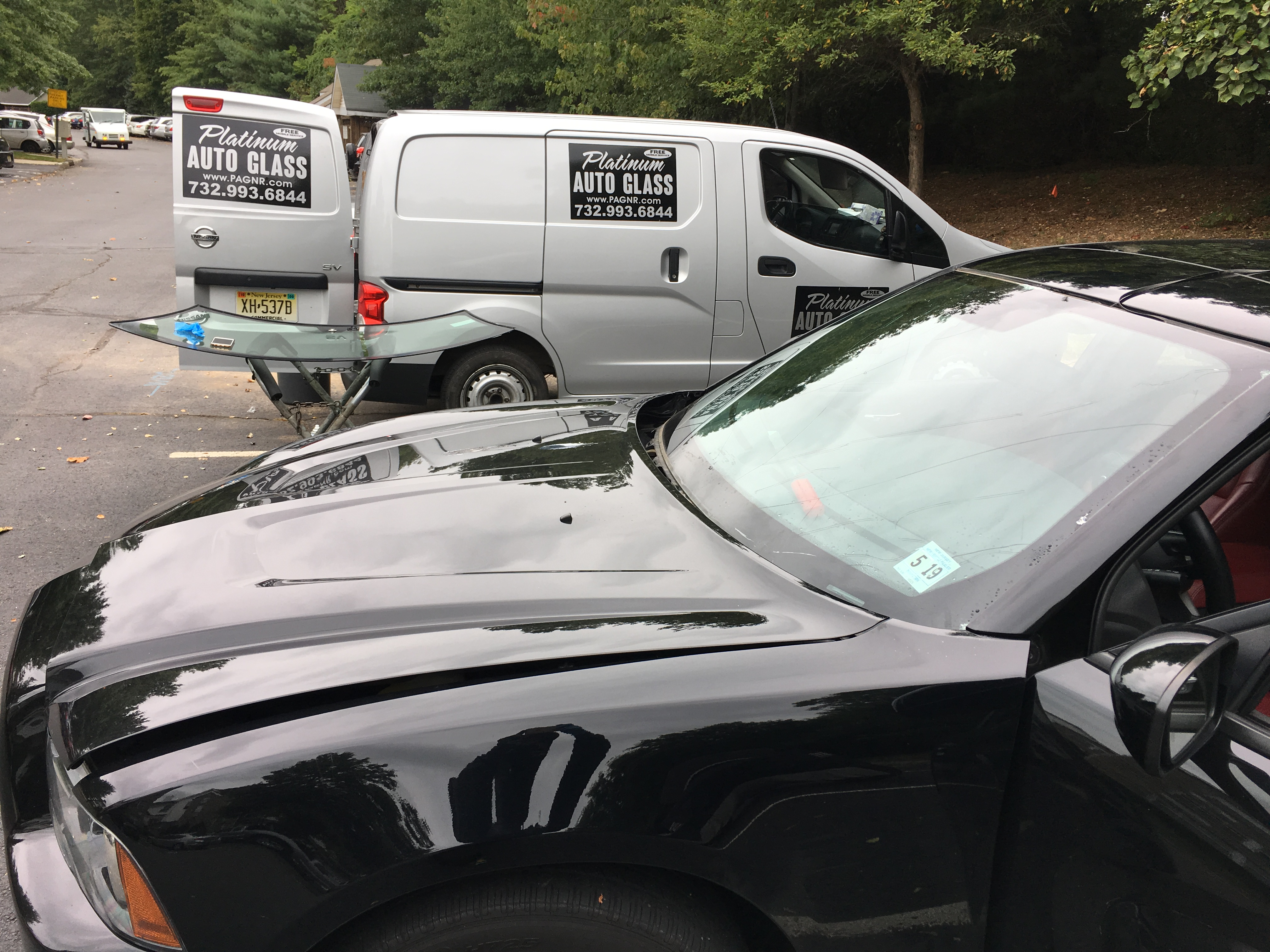 2015 Dodge Charge  automobile ready cut out  window replacement all done in New Jersey    by Platinum Auto Glass Repair  New Jersey @platinumautoglassnj.com