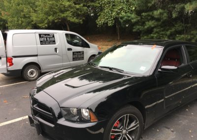 2015 Dodge Charge windshield replacement all done in New Jersey    by Platinum Auto Glass Repair  New Jersey @platinumautoglassnj.com