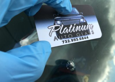 automobile windshield stone chip repair before repair process service in New Jersey by Platinum auto glass repair call 732-993-6844 done @ platinumautoglassnj.com