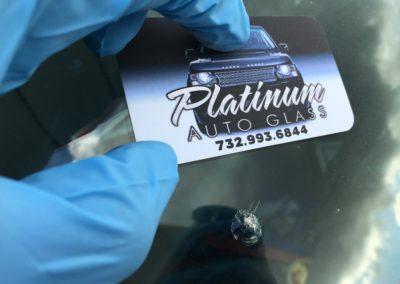 automobile windshield stone chip repair before repair process service in New Jersey by Platinum auto glass repair call 732-993-6844 done @ platinumautoglassnj.com