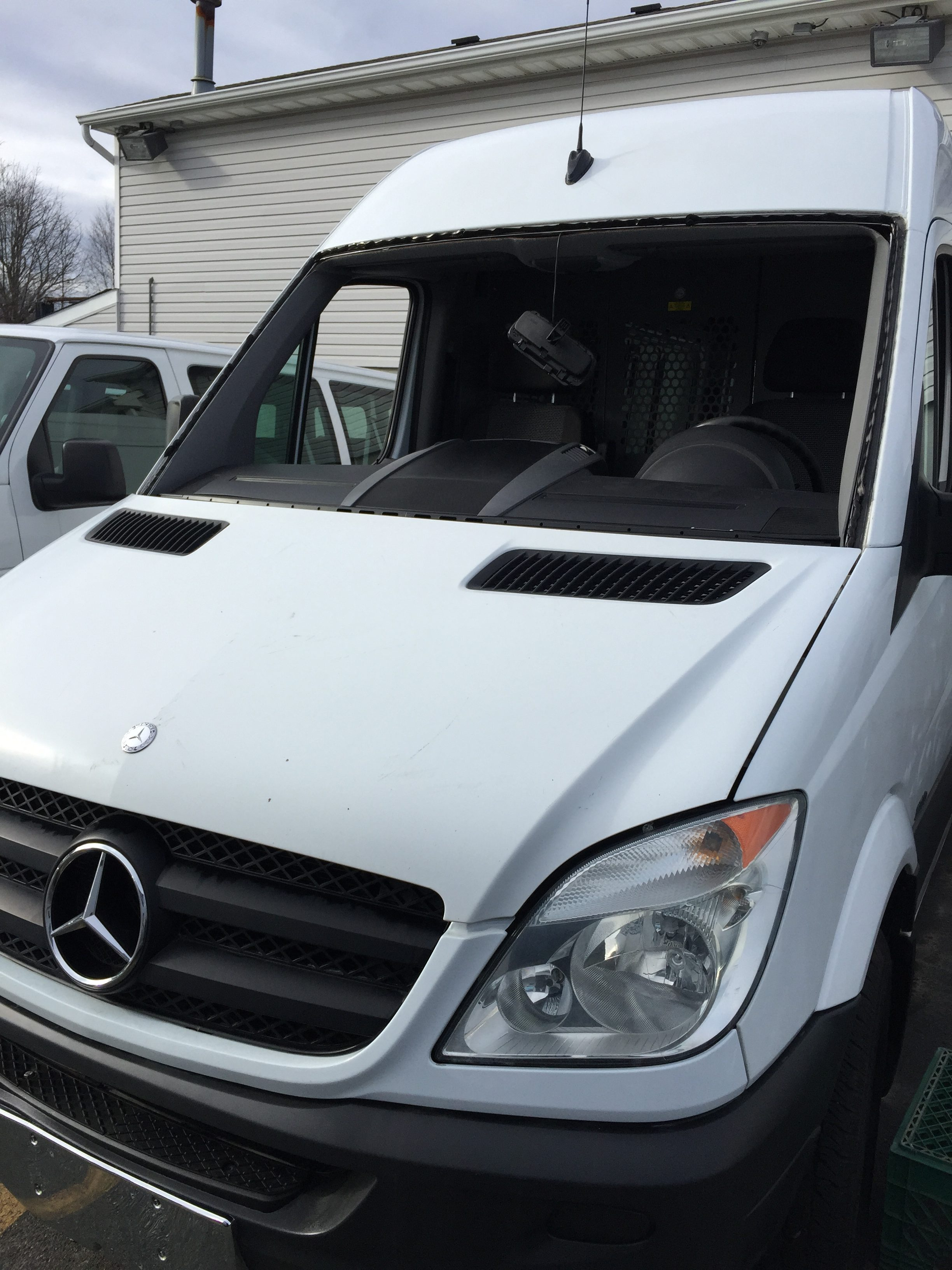 2012 Sprinter Van Mercedes Benz ready for a new windshield Install Platinum Auto Glass NJ @732-993-6844@platinumautoglassnj