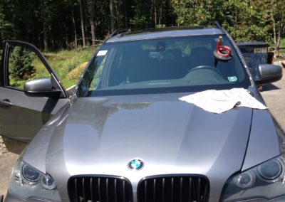2012 BMW X5 automobile window replacement installation in New Jersey Morris County for same day windshield replacement by Platinum Auto Repair Glass New Jersey @platinumautoglassnj.com