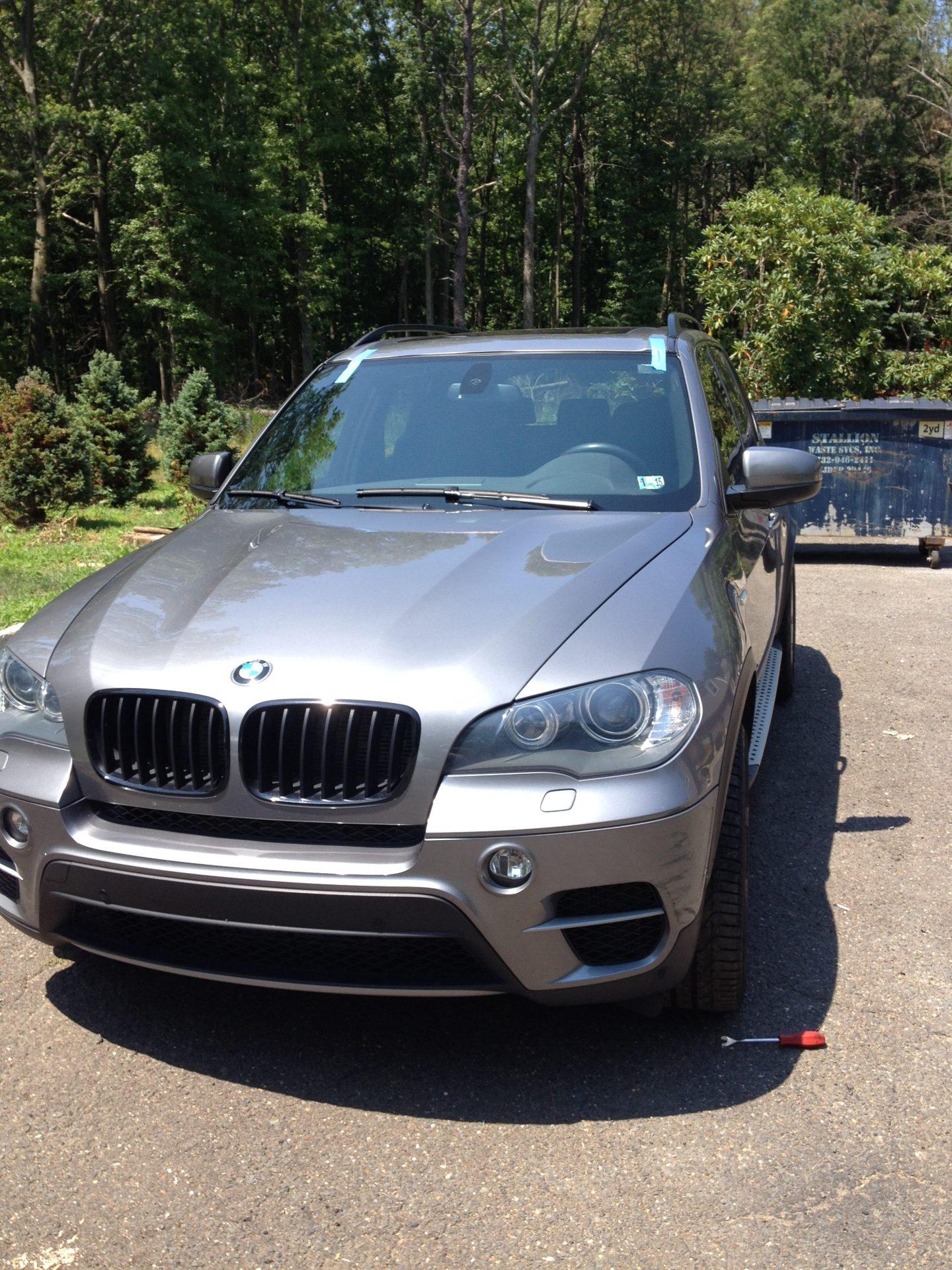 BMW X5 windshield installation After by Platinum Auto Linden Glass New Jersey