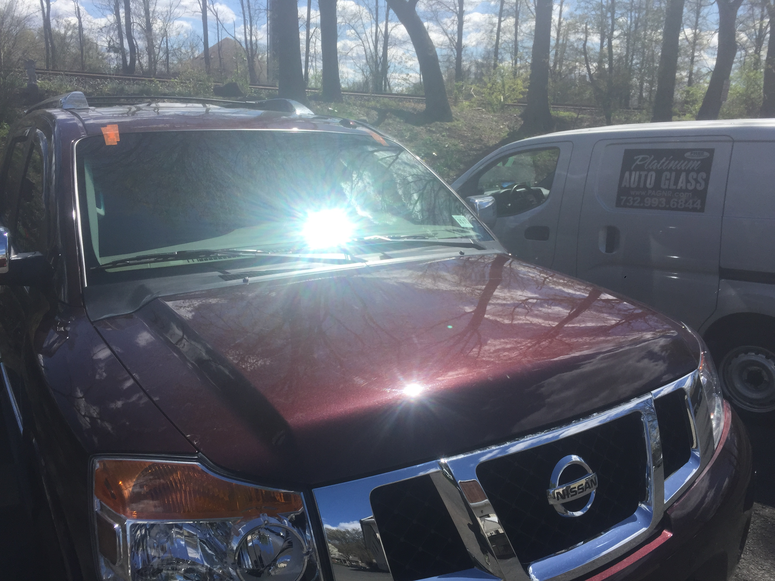 2014 Nissan Armada front window windshield replacement in New Jersey by Platinum auto glass repair  New Jersey @ platinumautoglassnj.com