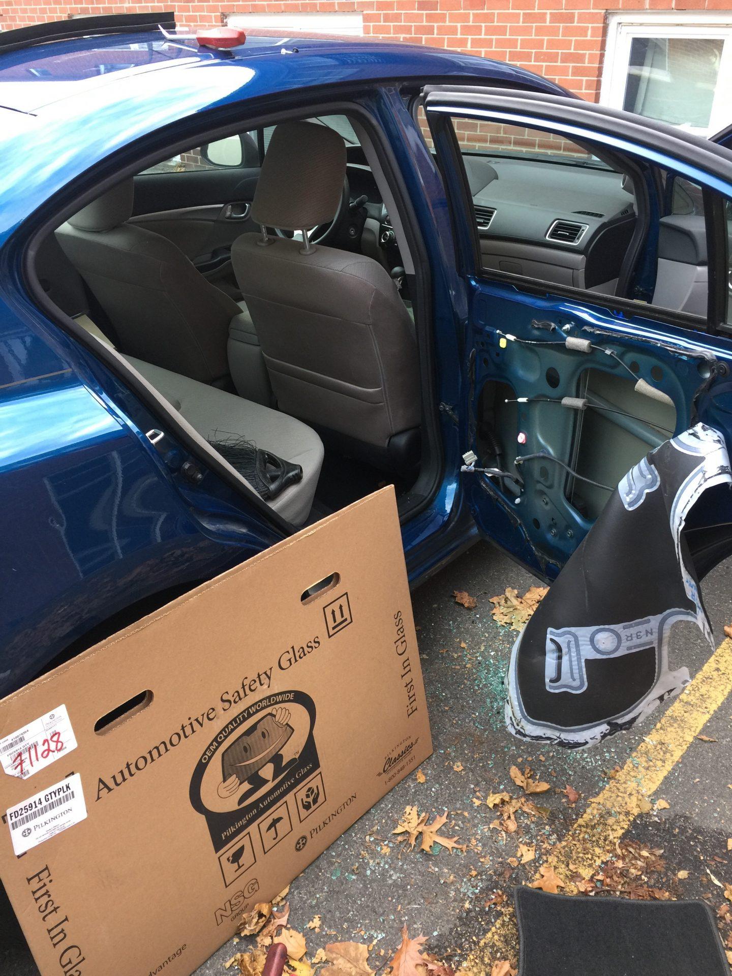 2012 Honda Civic Door window Install by Platinum Auto Glass Linden New Jersey
