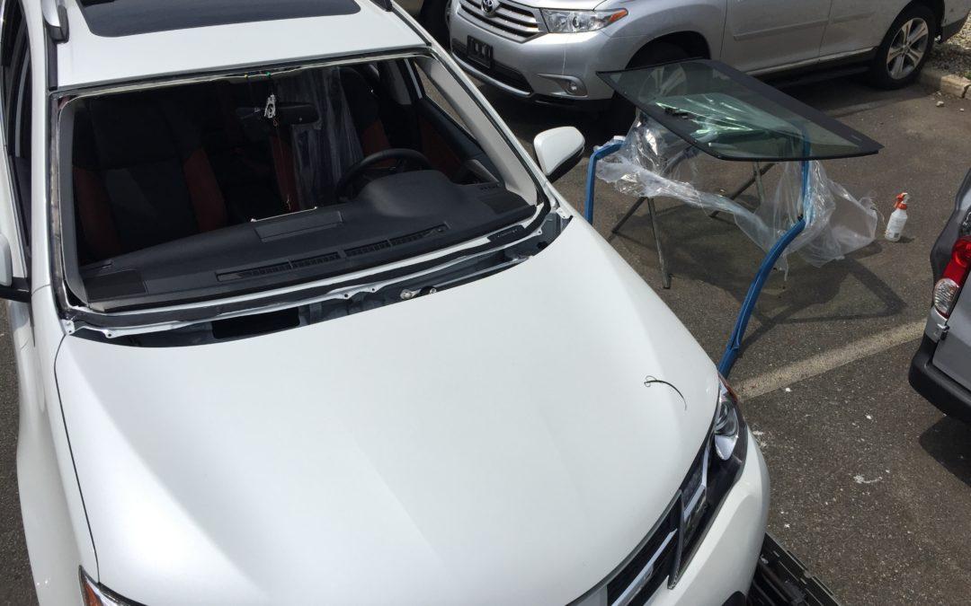 2018 Toyota RAV4 before windshield by Platinum Auto Glass Linden NJ