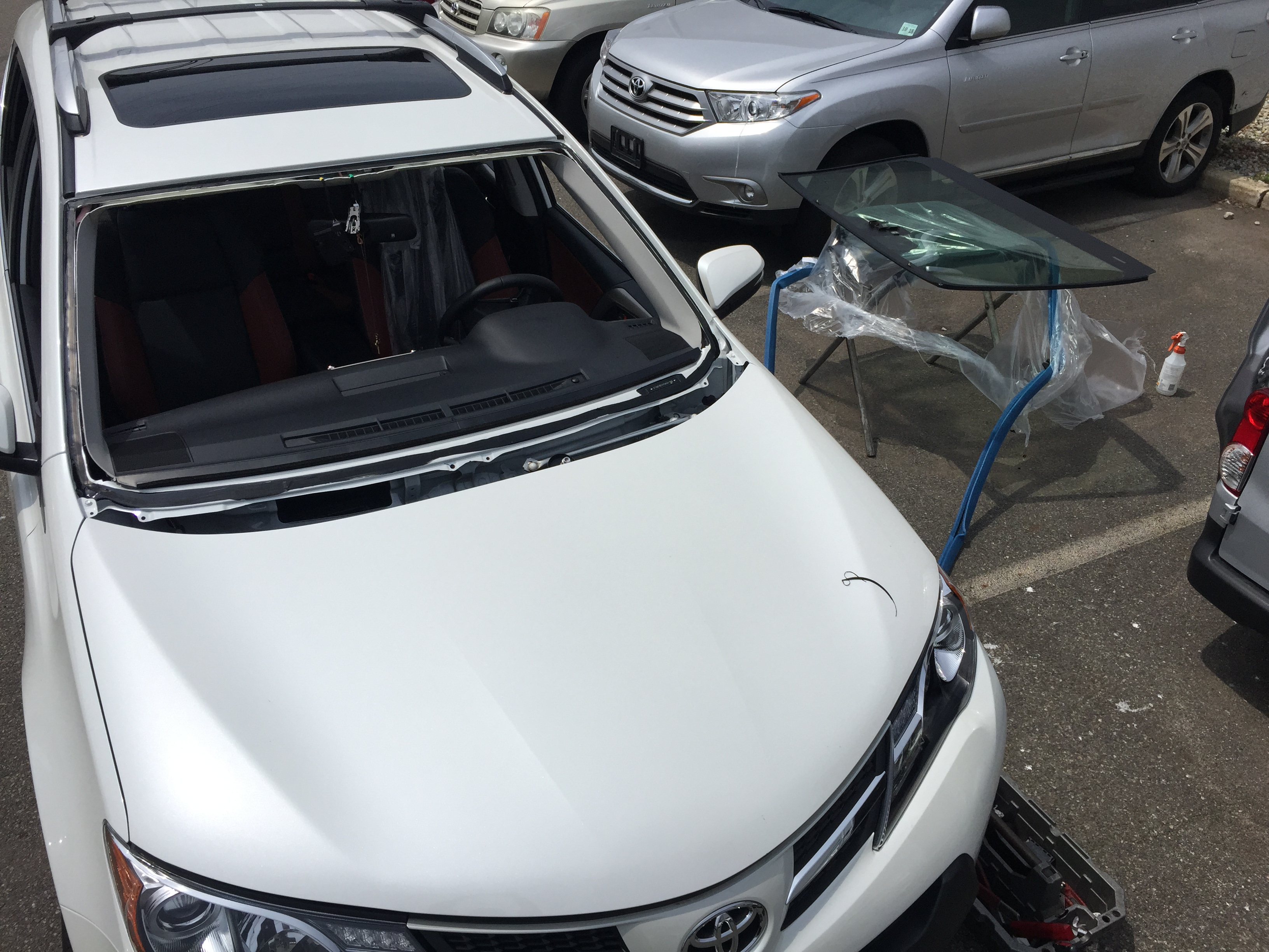 2018 Toyota RAV4 before windshield by Platinum Auto Glass Linden NJ