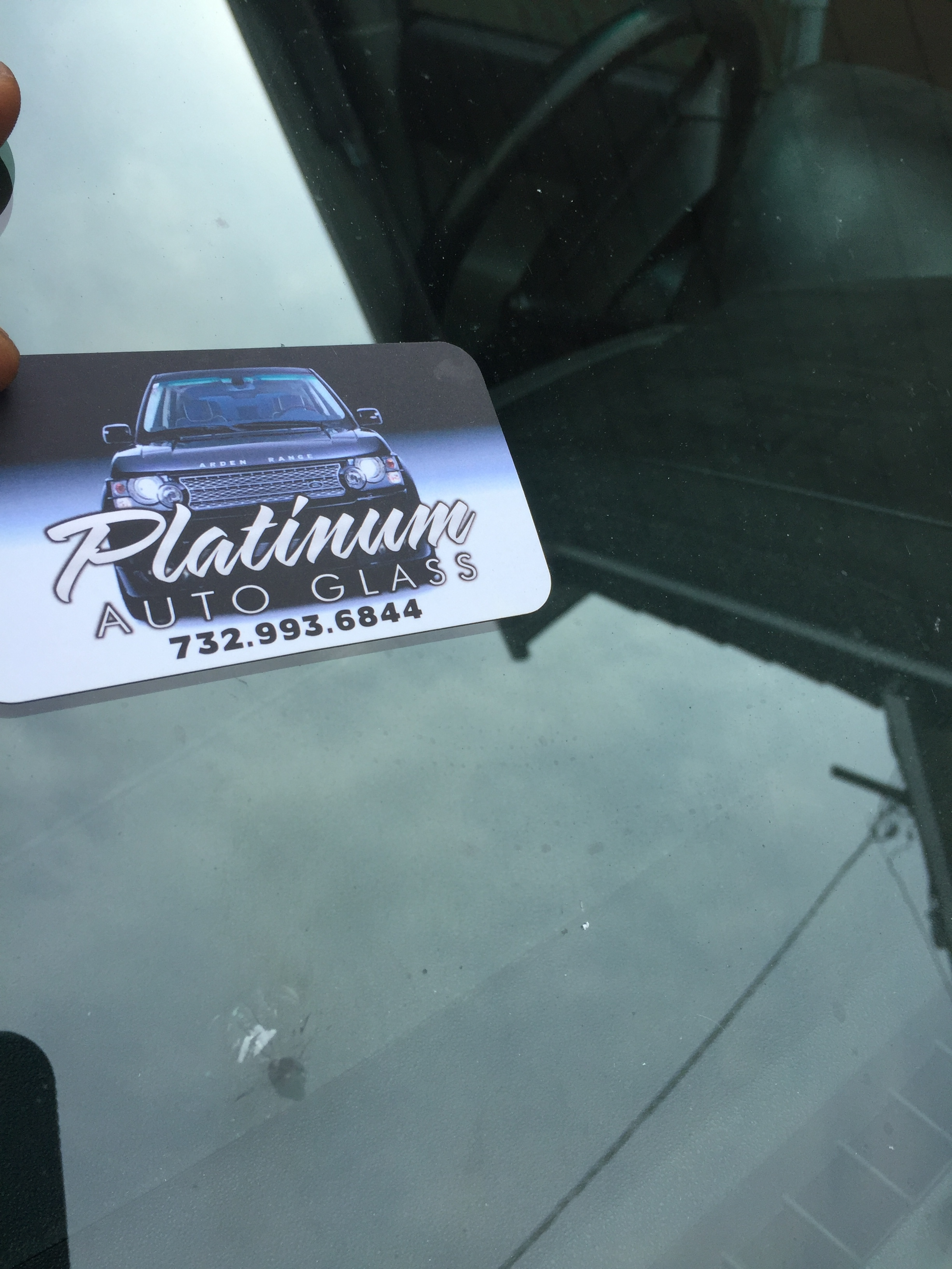 Windshield Chip Repair done onsite work or home@platinumautoglassnj