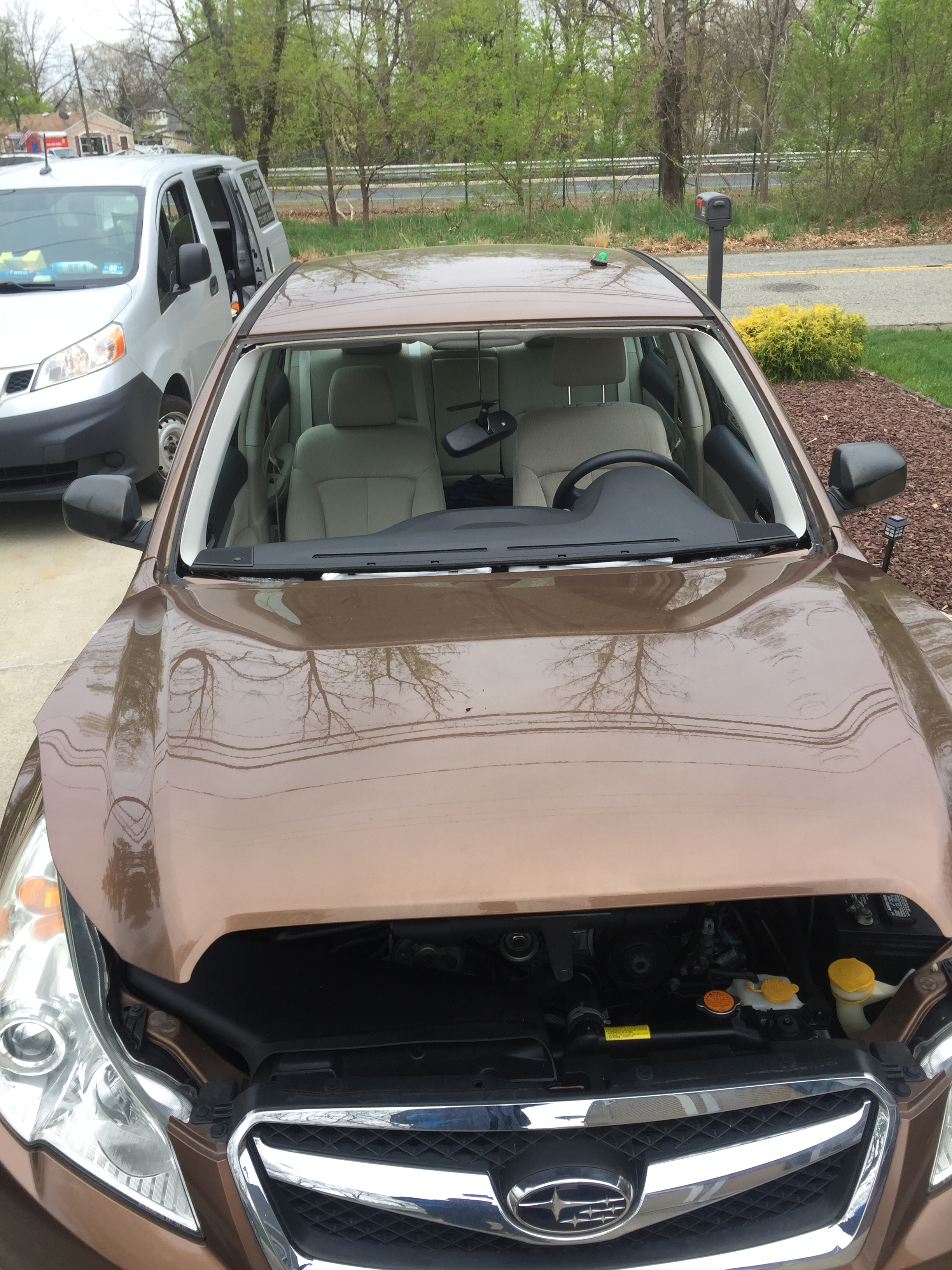 2017 Subaru Forester before new windshield