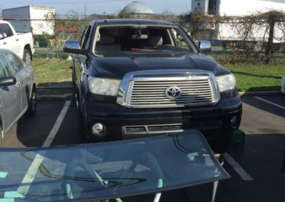Before cut out Toyota Pick up Truck Windshield Replacement Platinum Auto Glass New Jersey