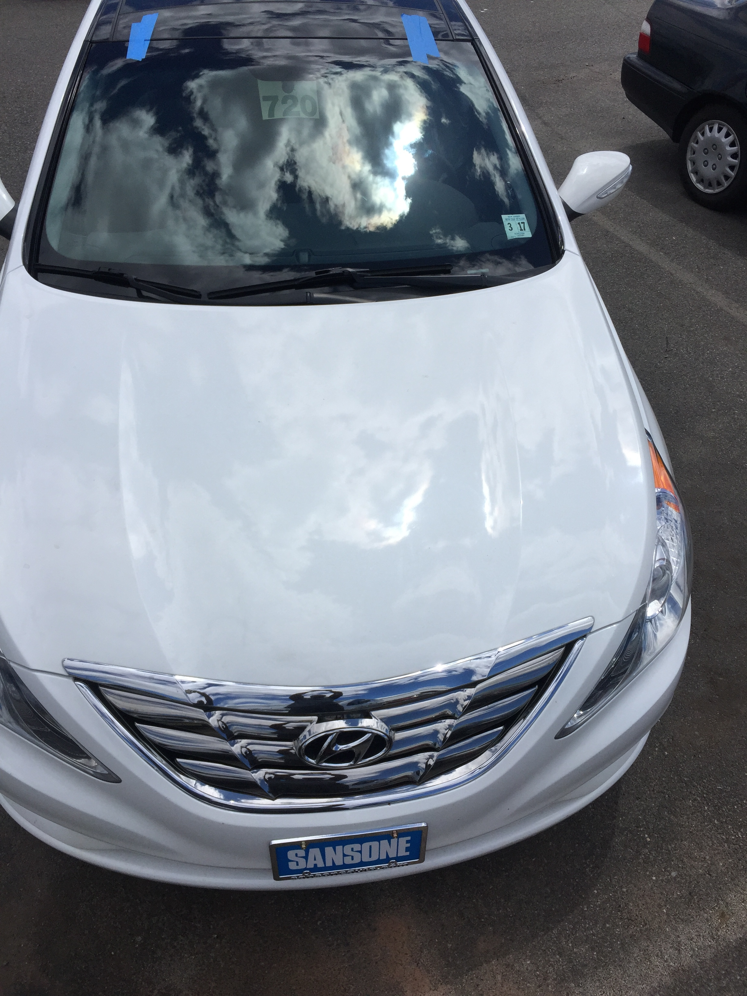 2019 Hyundai Sonata car Windshield before new windshield affordable automobile Windshield Replacement Service car windshield online quote by Platinum Auto Glass Repair New Jersey@platinumautoglassnj.com