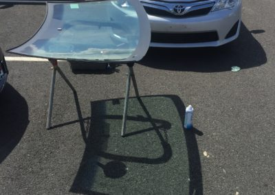 Toyota corolla windshield cut out with OEM Part Platinum Auto Glass Linden New Jersey