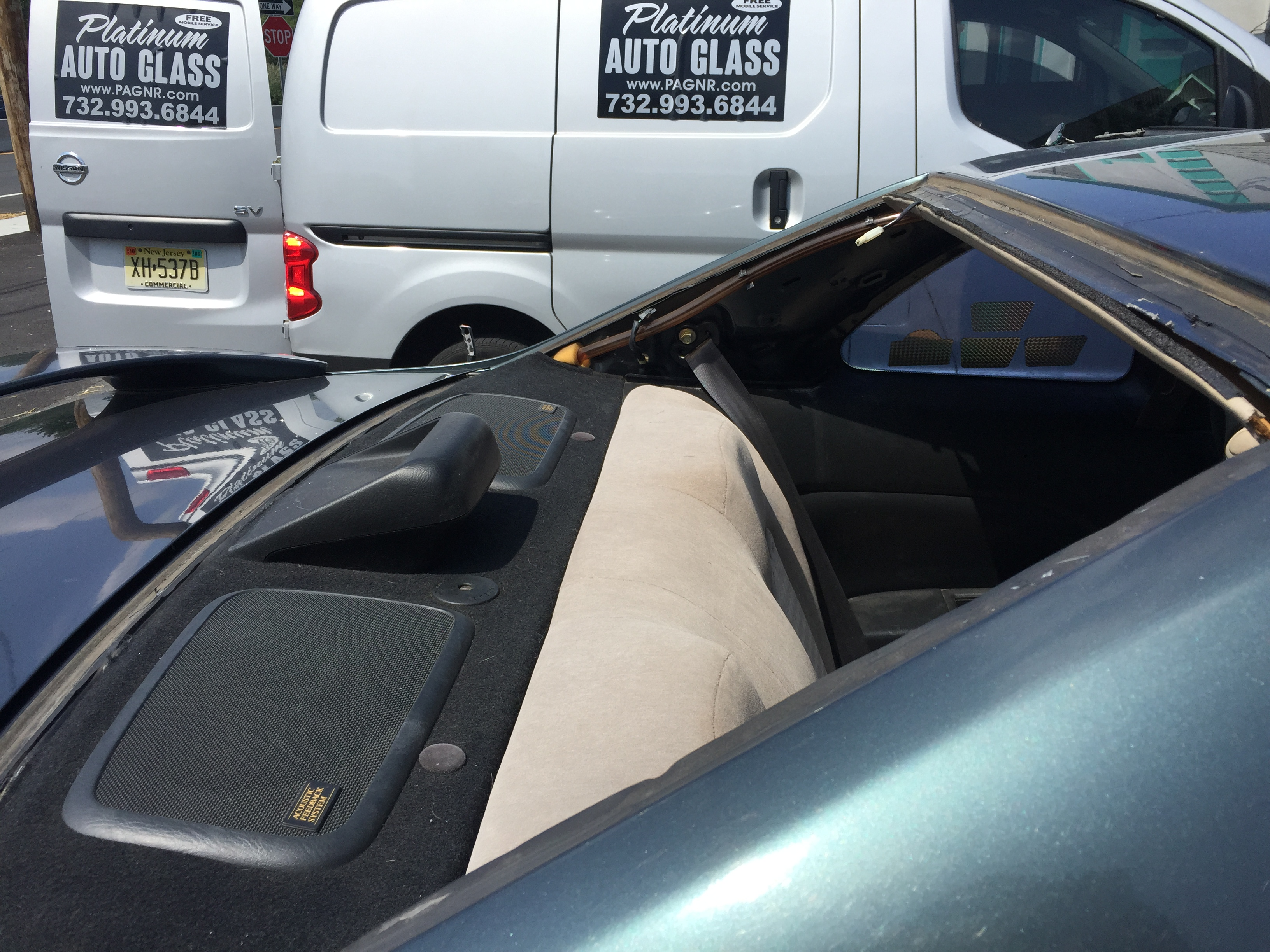 Back car glass replacement Technology windshield  Discount Emergency Same Day Windshield Replacement Platinum Auto Glass New Jersey before in New Jersey @platinumautoglassnj.comJ